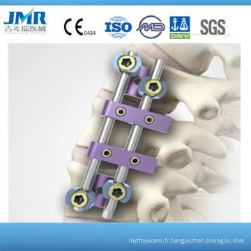 Thoracolumbar Spine Système de fixation de tige double antérieure, équipement chirurgical, système rachidien Implants cervicaux