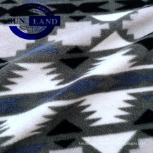 printing 100 polyester knit flannel fabric for home textile