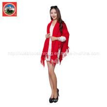 Châle / écharpe brodés en laine cachemire / yak 100% pour femme
