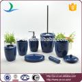 Viver clássico cerâmica 7PCS azul banheiro acessórios conjunto