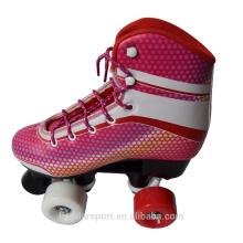 4-Rollen-künstlerische Boots-Skates Professionelle Aluminium-Rollen