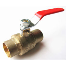 3CXC New light-duty fully welded forged brass ball valves with lead free (sweat*sweat) lower price