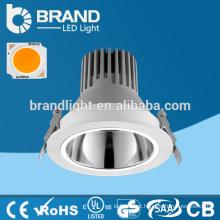 5 anos de garantia, New Design Alta Potência 9W COB LED Downlight, Recessed Mouunted COB 9W Downlight
