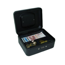 Factory High quality steel money storage 8 inch cash box with combination lock