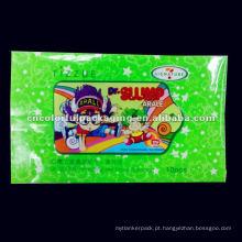 Saco de embalagem refrescante selo adesivo Molhado Tecido (Mentol)
