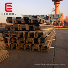 400X100X10.5 hot rolled Larssen sheet pile U type sheet pile for retaining water and solid