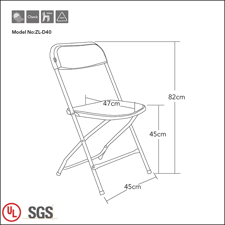 Flash Furniture 400-Pound Plastic Folding Chair
