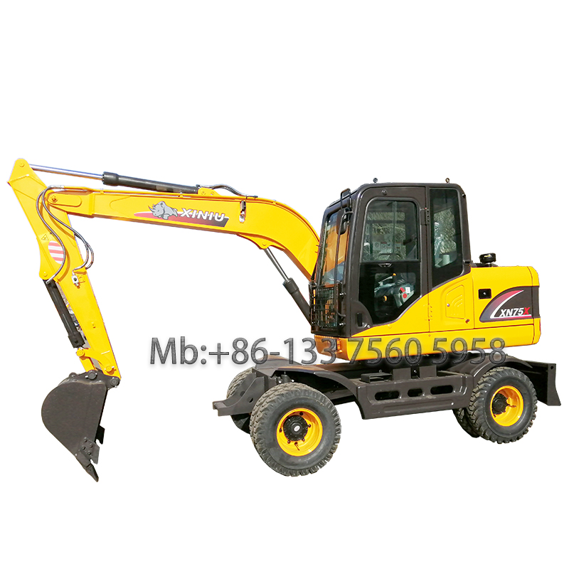 6 Ton wheel excavator with XINCHAI ENGINE