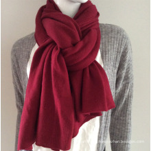 Lady Fashion Burgundy Cashmere Knitted Scarf (YKY4387-4)