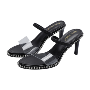 Mujer Transparente Open-toe High Heels Slippers