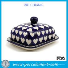Plat en beurre entièrement en céramique