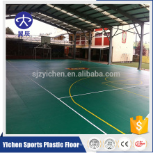 Anti-shock pvc vinyl gymnasium/basketball flooring covering
