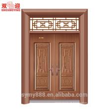Porta de dupla entrada de aço personalizado de Culrural boa sorte & felicidade segurança honrosa decorativa