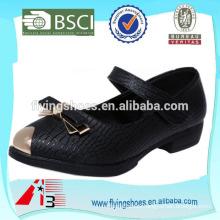 fancy VELCRO baby kid school leather shoe for girls