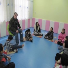 Color sólido Kids kindergarten used PVC floor