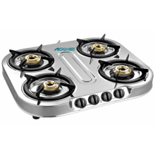 Spectra 4 Burner Designer Stainless Steel Body Stove
