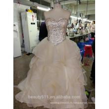 Elegent Robe de mariée Robe de mariée Robe de mariée en dentelle en dentelle florale P105