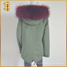 Fabrik Direktverkauf Mode Jacken Genuine Fox Dick Frauen Pelz Parka