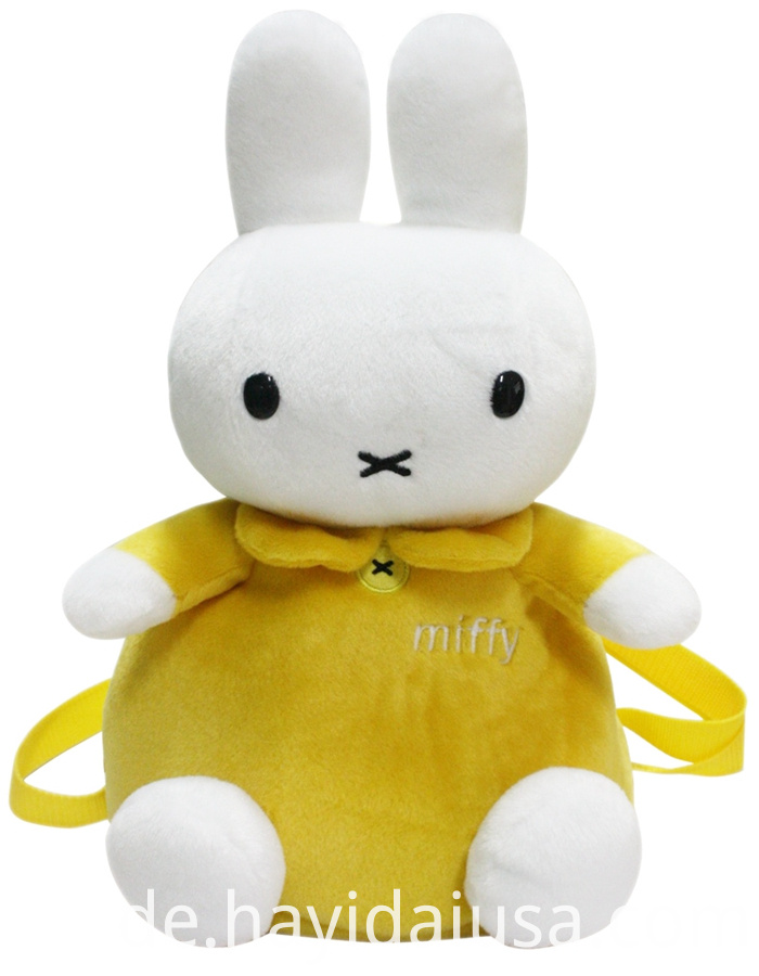 Yellow Miffy rabbit backpack
