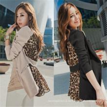 2015 Mode Chiffon Sexy Leopard Frauen Freizeit Anzüge (50021)