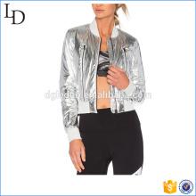 Color de la hebra reflexivo de la chaqueta del abrigo del sol del bombardero apagado para las señoras