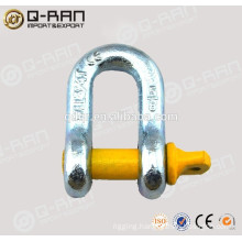 High Strength Drop Forged US Screw Pin Bow Shackle