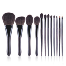 12pcs brushes soft natural hair cosmetic brushes kit