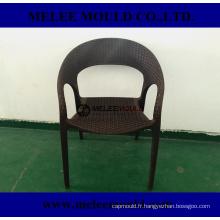 Moule en plastique tissé de chaise de patio extérieur