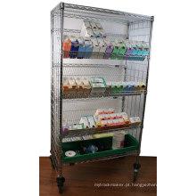 NSF metal Slanted Rack de prateleiras de exibição para Hospital / farmácia (SL186086A7CW)