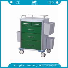 Chariot d'hôpital d'acier inoxydable d'AG-GS002