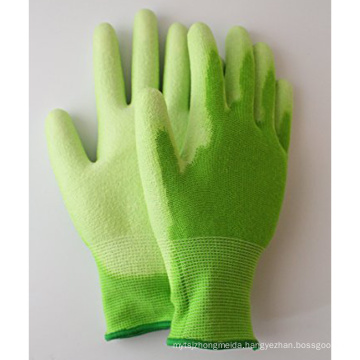 Summer Garden Tools Breathable Bamboo Fiber Gloves With PU Palm Coated