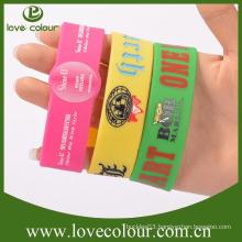 Factory wholesale silicone wristband bracelet silicone wristband making