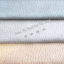 Tela do sofá de veludo do poliéster em relevo camurça (G69-26)