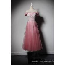 LSQ047 Pink sweetheart off shoulder natural waist short vestidos patterns sex prom dress
