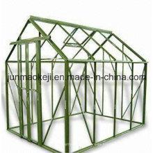 Estructura de invernadero de aluminio, disponible en tamaños de 6 X 8 pies y 8 X 10 pies