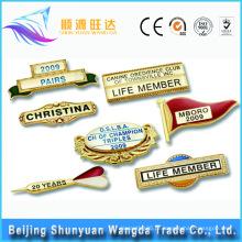 Emblema do botão do nome do OEM do fornecedor China Emblema do Pin do metal