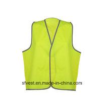 Горячий дешевый светоотражающий жилет безопасности из 100% полиэфирной трикотажной ткани