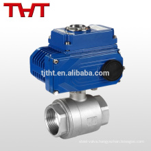 Stainless steel electric micro ball valve