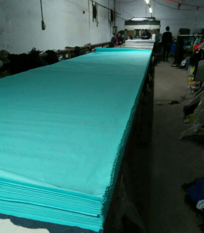 CUTTING cap fabric