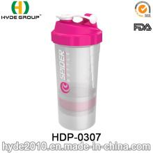 500ml BPA Free Protein Shaker Bottle, Plastic Powder Shaker Bottle (HDP-0307)