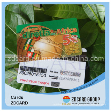 PVC Phone Card Rechargeable Card Top up Card