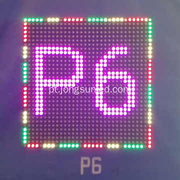 Módulo de display LED RGB SMD externo P6