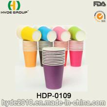Único copo descartável quente do papel do café da parede na cor pura (HDP-0109)