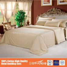 Súper calidad Hotel Satin Stripe Juego de sábanas de algodón Set de edredón de algodón