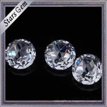 Pedras preciosas cúbicas brilhantes redondas da zircônia da cor branca redonda de 5mm para a joia
