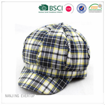 Short Peak Checked Ivy Cap Wholesale