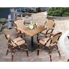 Outdoor Patio Aluminum Rattan Cafe Chair and Table