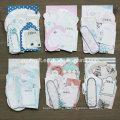 Boy Girl Wedding Flower Paper Craft Pack 21 Die-Cut Etiqueta Mini Tarjeta