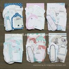 Boy Girl Wedding Flower Paper Craft Pack 21 Die-Cut Etiqueta Mini Tarjeta