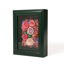 Creative Custom Wooden 3D Shadow Box Display preserved fresh flower Wall Decor High Quality Photo  Picture Frame Wholesale